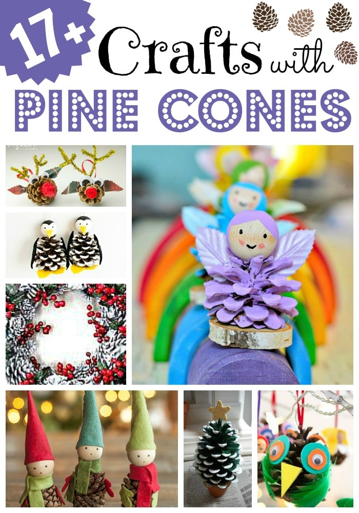 Pine Cone Crafts For Kids Red Ted Art