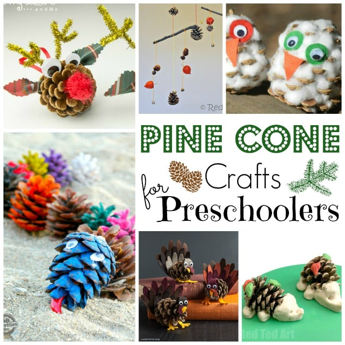 pine cone crafts for kids red ted art 39 s blog