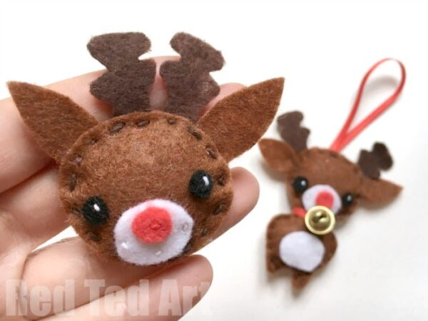 cute rudolph ornament