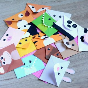 cute origami envelope winter animals red ted art s blog