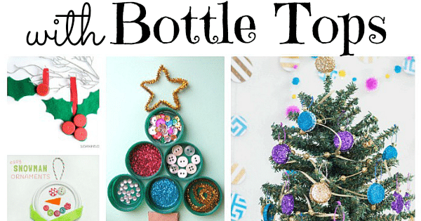 Christmas Ornament Tops.Festive Bottle Cap Diys Red Ted Art