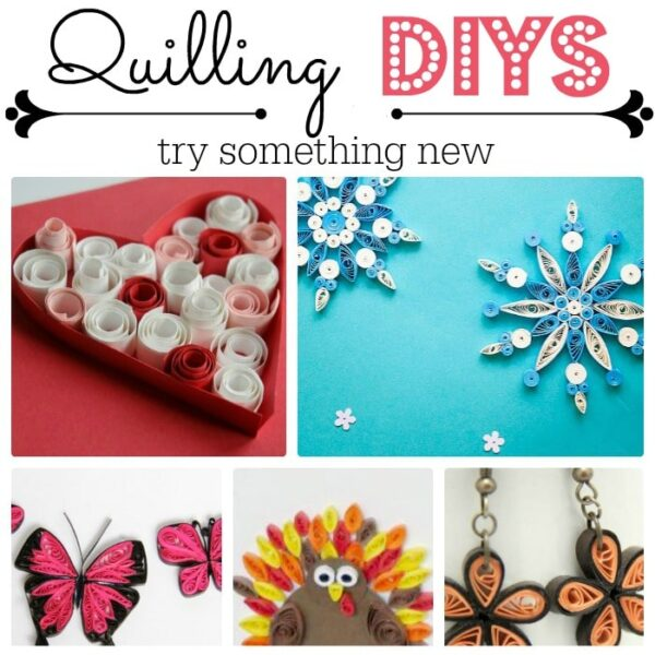 Great Paper Quilling DIY ideas. Try something new. Love this easy paper craft. Great for beginners and kids alike!