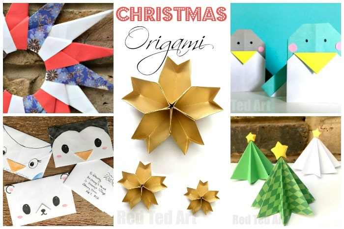 Our cute and easy Christmas Origami. A great way to explore the world of Origami, with these easy Christmas Origami projects!