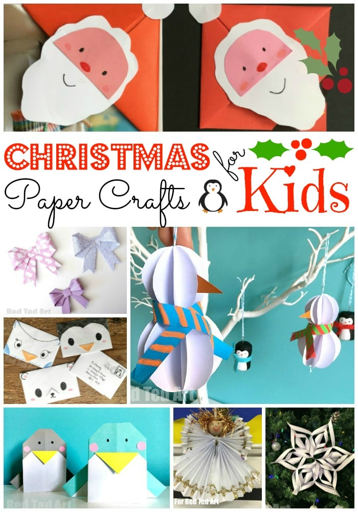 Christmas Crafts For Kids.Christmas Paper Crafts For Kids Red Ted Art