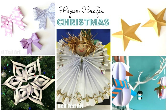 *Christmas Paper Crafts for Kids*. Everyone has paper, right? Combine paper with basic stationery items such as scissors, pens and glue and you have a fantastic list of fabulous Christmas Crafts and Christmas DIYs for kids and grown ups. Love how versatile Paper Crafts. Come and take a look at all these CUTE Christmas Paper Crafts today