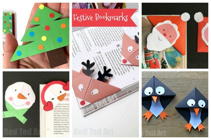 Christmas Paper Crafts for Kids Red Ted Arts Blog – Christmas Bookmark Templates