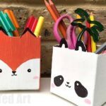 Milk Carton Pen Pot Crafts