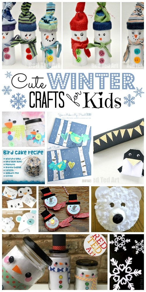 Easy Winter Crafts For Kids Red Ted Art