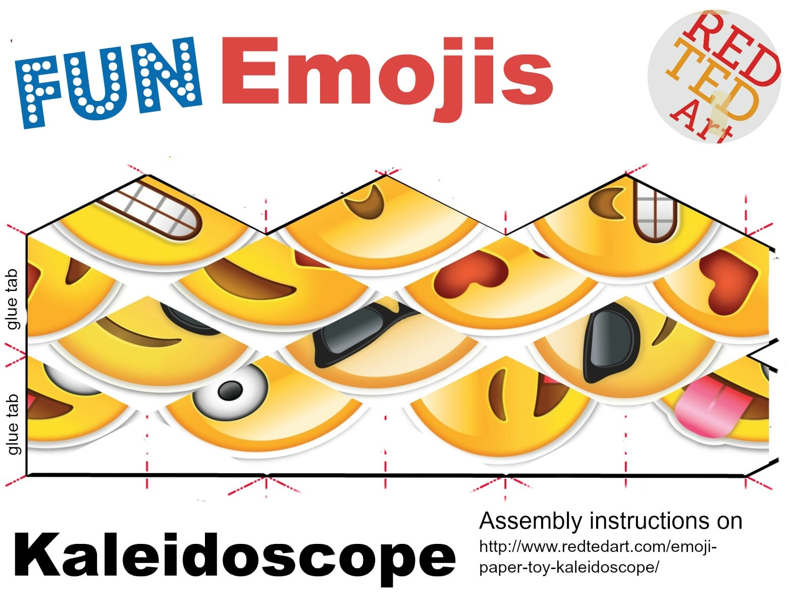 Emoji Paper Toy Kaleidoscope - Red Ted Art's Blog - photo#23