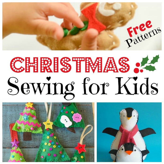 Kids Sewing Projects. If your kids like to sew or you plan to teach them to sew, check out these super duper CUTE Christmas Sewing Projects for Kids. ARen't they adorable? Fabulous free sewing patterns for Christmas! #sewing #sewingpatterns #patterns #christmas