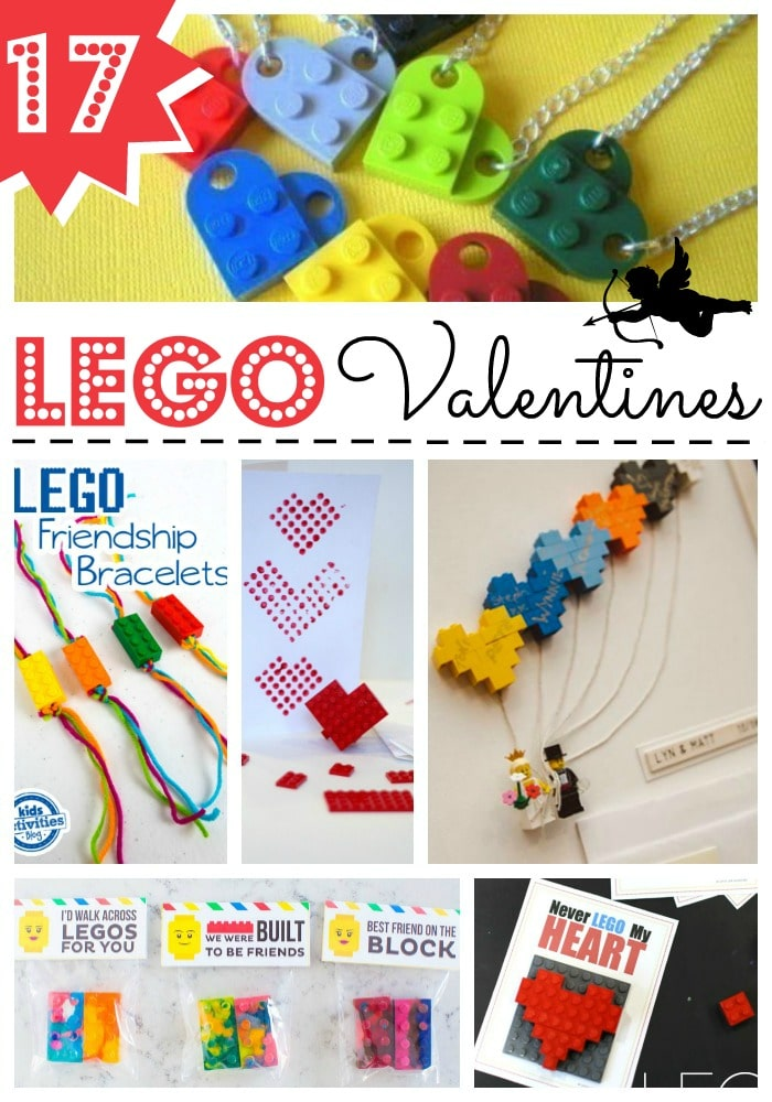 LEGO Valentines Day Ideas - we love LEGO and here are some great LEGO Valentine's Day ideas for LEGO fans. From Valentines Class gifts to printable LEGO Valentine Cards #lego #valentines #valentinesday #legovalentines #valentinesdaycards #cardmaking #kidscrafts
