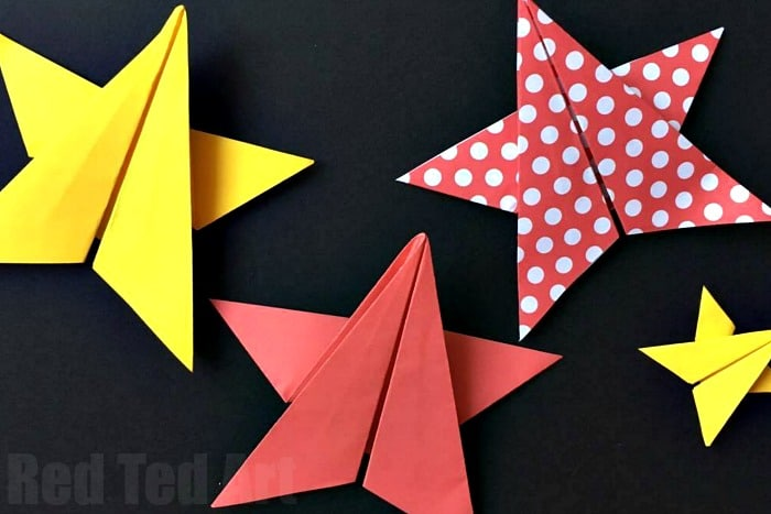 Easy Origami Stars Red Ted Art S Blog
