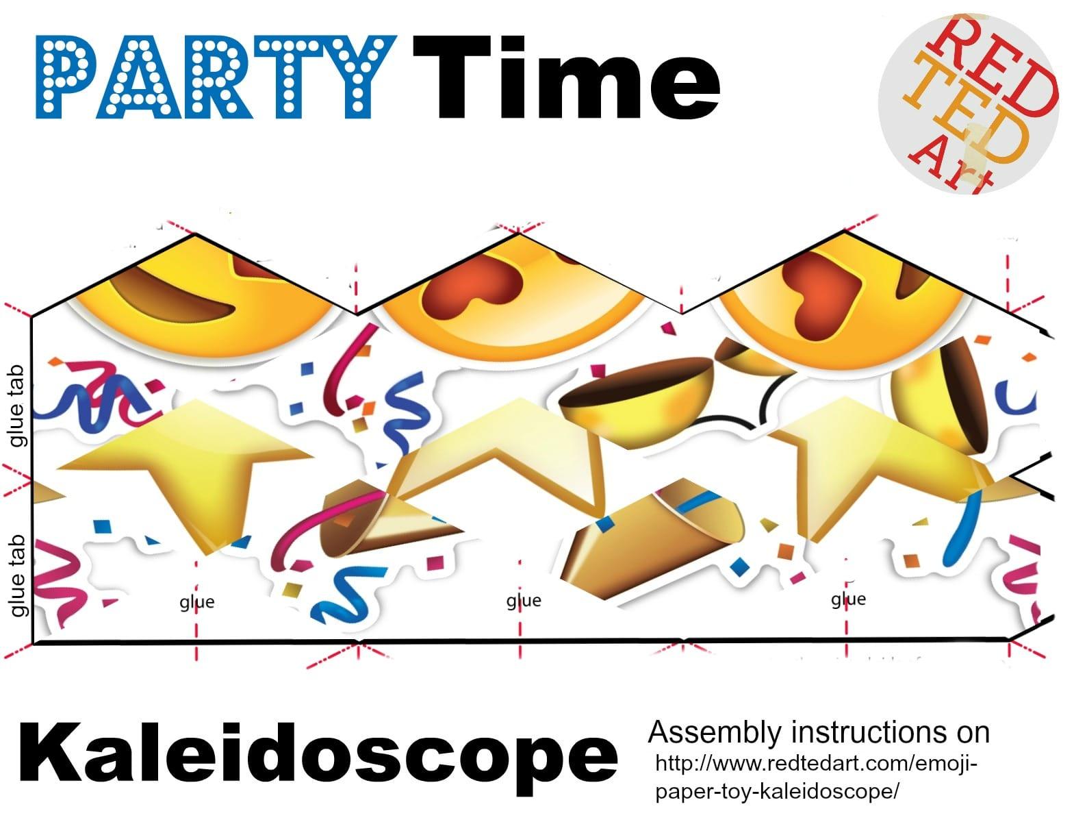 Emoji Paper Toy Kaleidoscope Red Ted Art S Blog