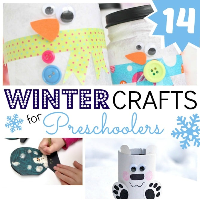 Easy Winter Art Projects for Preschool - fantastic process art projetcs for toddlers and 2 and 3yrs olds. Developing fine motor skills and sensory art fun.