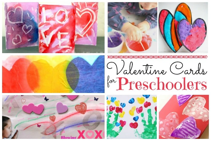 Valentine Crafts for Preschoolers Red Ted Arts Blog – Valentine Card for Preschoolers