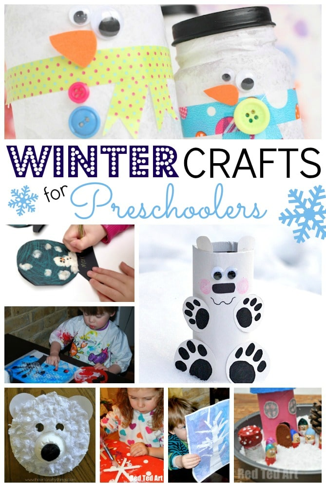 Winter Crafts for Preschoolers. #Winter #WinterCrafts #Kidscrafts #preschool