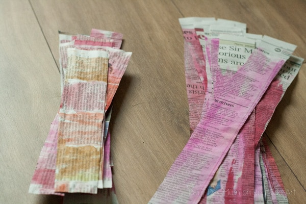 3D Painted Newspaper Heart Bunting-2