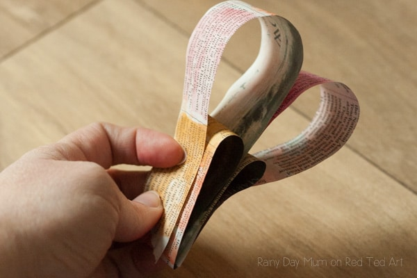 3D Painted Newspaper Heart Bunting-4