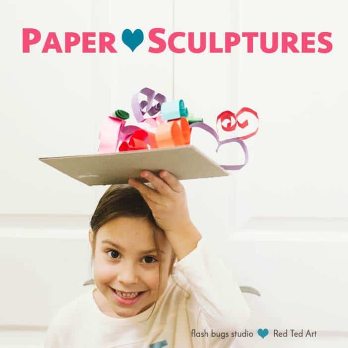 Paper Heart Sculptures - a wonderful STEAM activity for Valentines