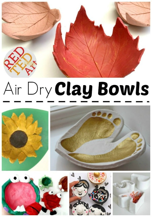 Air Dry Clay Projects For Kids Red Ted Art