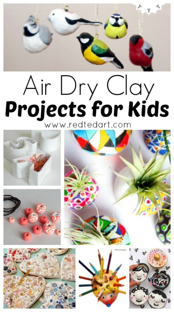 air dry clay projects for kids red ted art 39 s blog. Black Bedroom Furniture Sets. Home Design Ideas