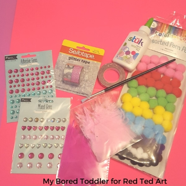 Collage Heart Cards for Toddlers Red Ted Arts Blog – Toddler Valentine Cards