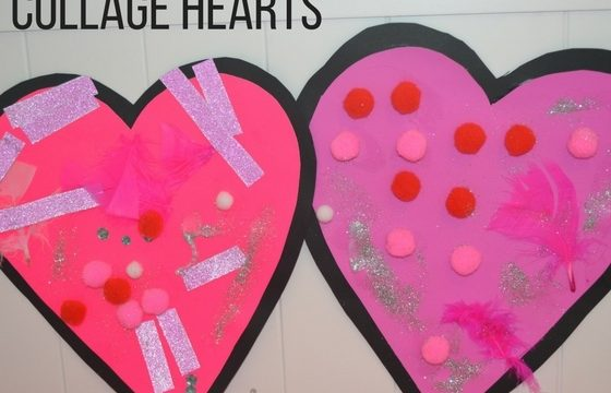 Collage Heart Cards for Toddlers