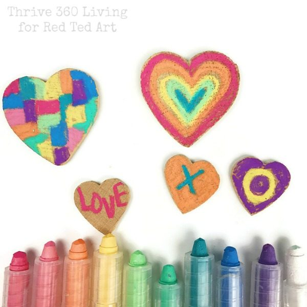 Crayon Heart Magnets