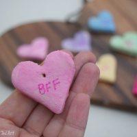 DIY Conversation Hearts Necklace
