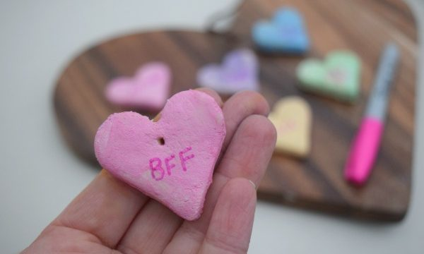DIY Conversation Hearts Necklace