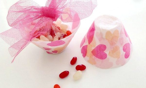 DIY Fabric Heart Bowls for Valentines Day