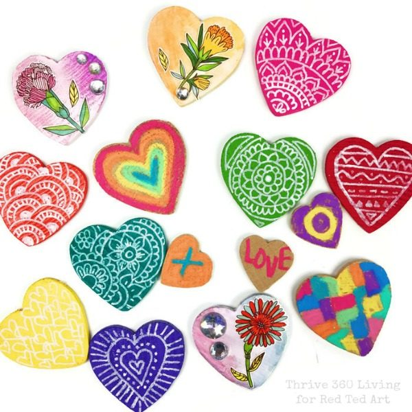 DIY Heart Magnet Gift Idea