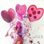 Heart Wands – Painted Paper Art