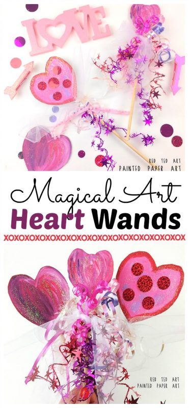 DIY Heart Wands Valentines