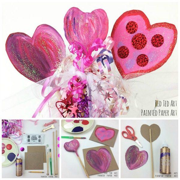 DIY Heart Wands Valentines Craft