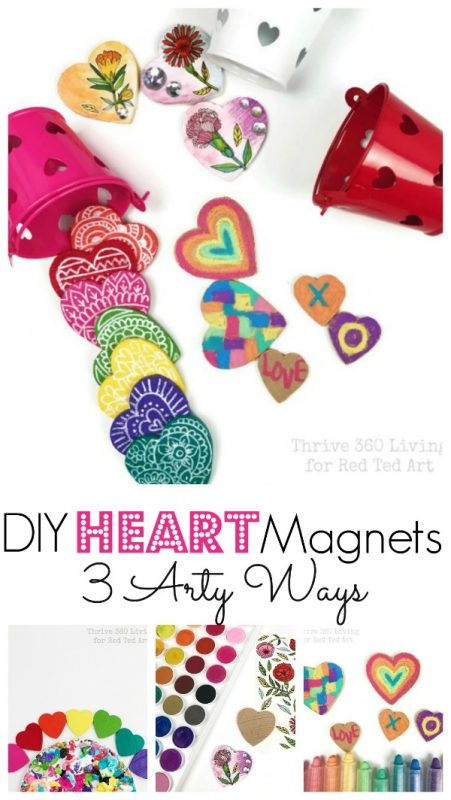 DIY Rainbow Heart Magnet Gifts
