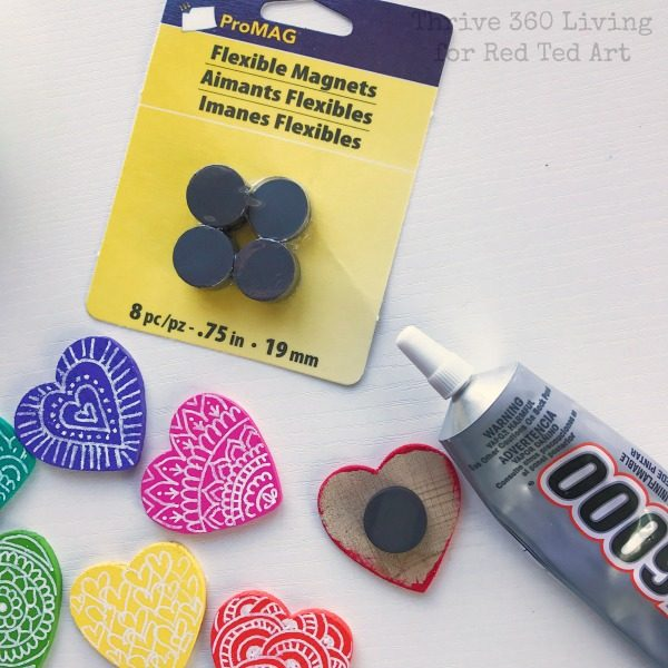 DIY Rainbow Heart Magnets