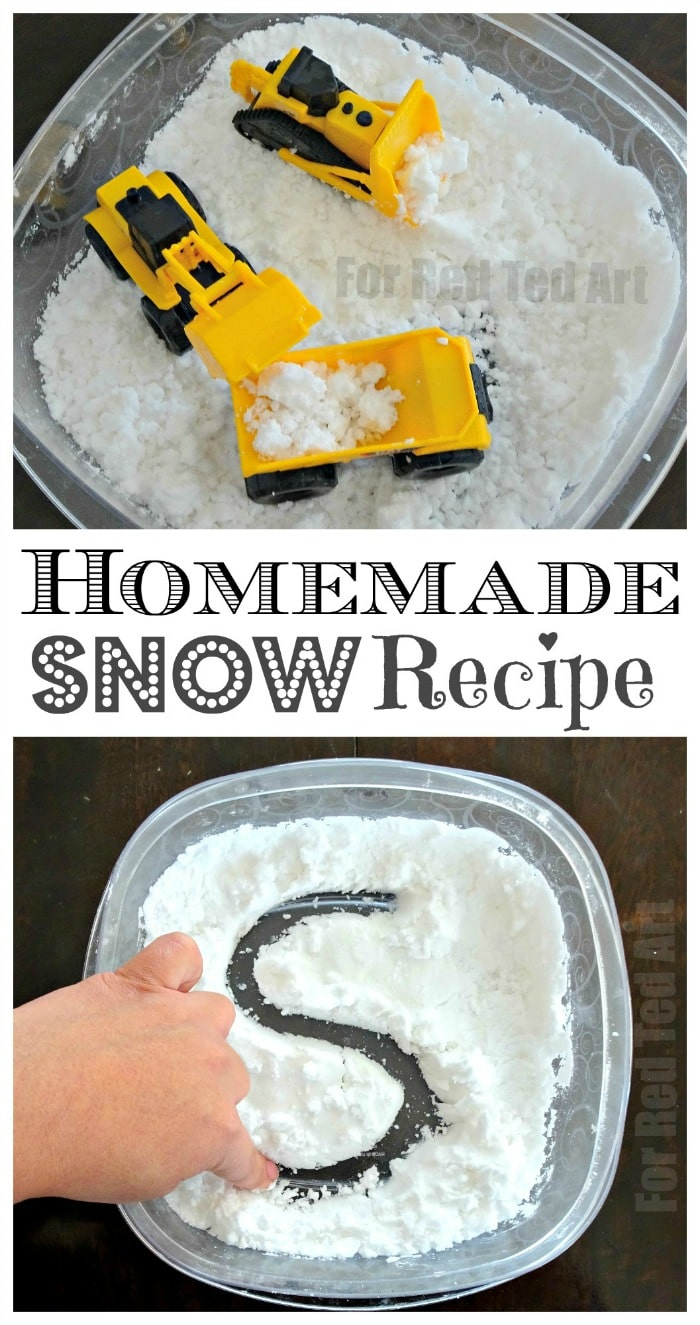 how to make homemade snow recipe red ted art 39 s blog