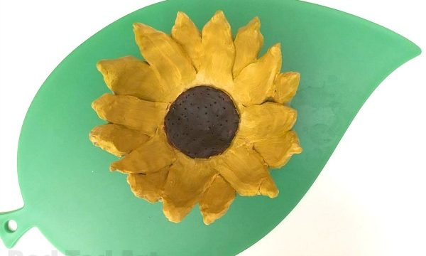 DIY Sunflower Clay Bowls