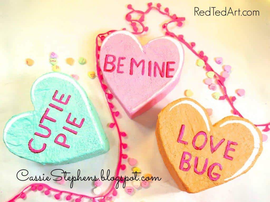 how to make giant conversation hearts for valentines red ted
