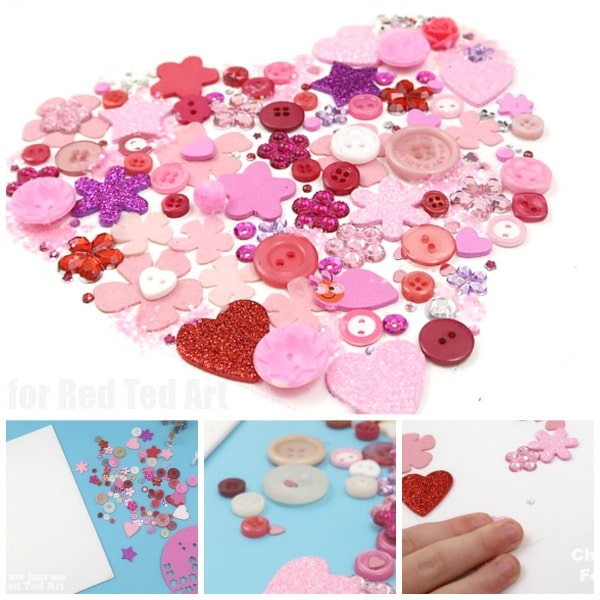 Valentines Craft for Kids - make this pretty Heart Wall Art. A lovely Valentines Decoration, DIY Valentines Gift or also wonderful for Mother's Day!