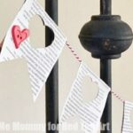 Newspaper Heart Garland for Valentine