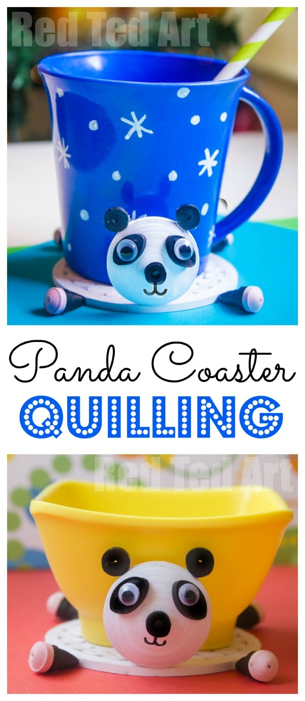 Panda Quilling Project - a great quilling pattern and design that is cute and practical. Love how this quilled project doubles up as a DIY Panda Coaster! Definitely something new to try!