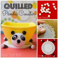 Panda Quilling Project to Make a Coaster