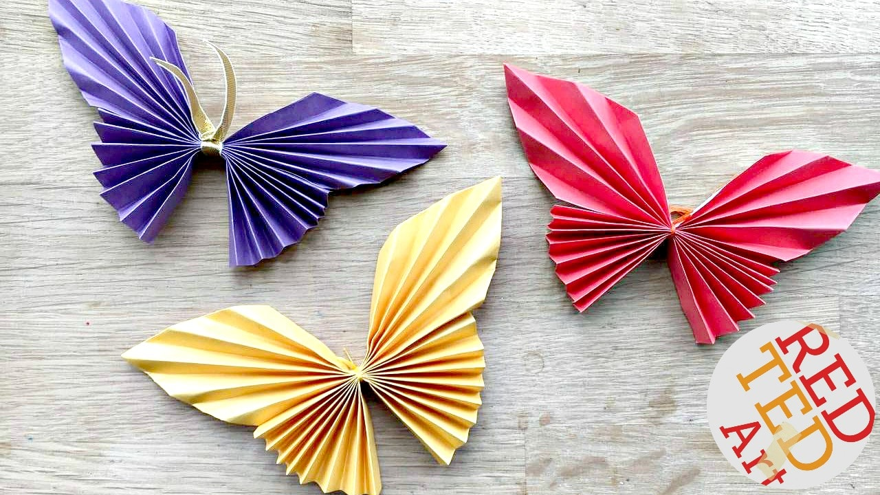 Easy paper butterfly red ted arts blog easy paper butterfly origami beautiful origami butterflies for kids to make these look super jeuxipadfo Choice Image