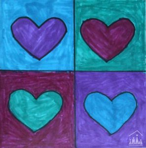 Pop Art Hearts 7
