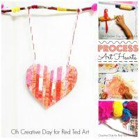 Process Art Heart Wall Hanging