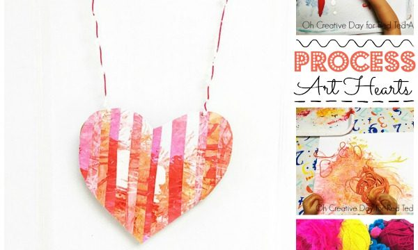 Process Art Heart Wall Hanging