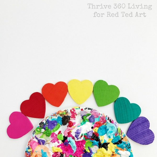 Rainbow Heart Magnets