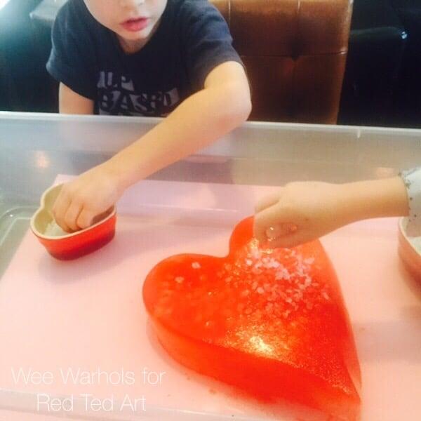 STEAM Valentines Activity - Ice and Salt STEAM activity for valentines day